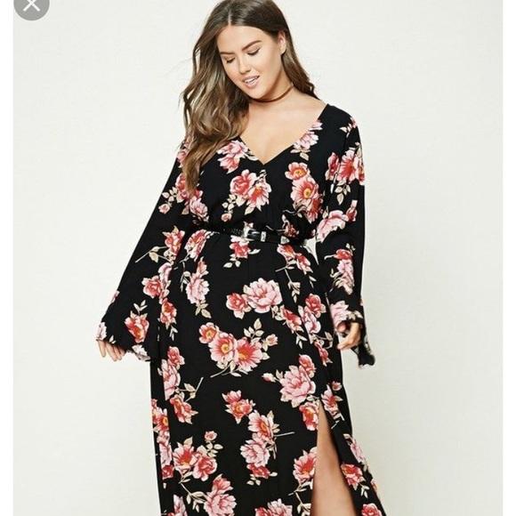 Plus Size Forever 21 Floral Maxi Dress